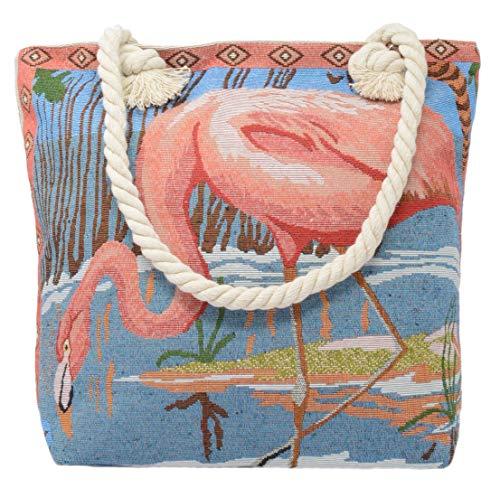 Flamingo De Lona Mujer Bolso Piquaboo Tela Pink Para 6qOnBgc7Ww