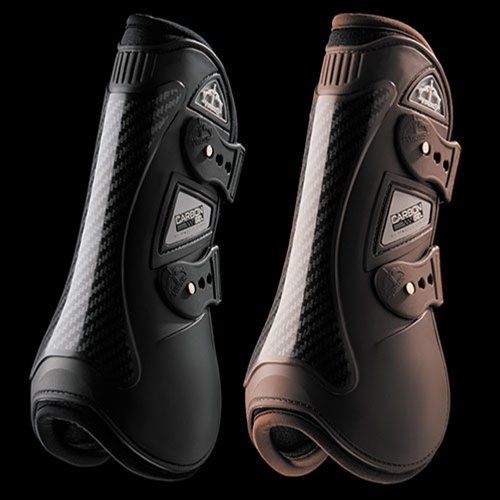 VEREDUS Carbon Gel Open Front Boots Large Black