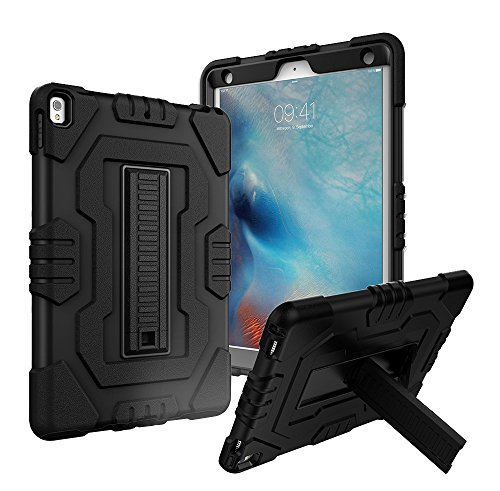 Digital Hutty Case for iPad Pro 10.5, 3 in 1 Shockproof Heavy Duty Full-body Protective Cover with Kickstand for Apple iPad Pro 10.5 (2017) Release Black by Digital Hutty