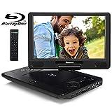 12' Portable Blu Ray Player Support A Region Blu Ray Disc, Region Free DVD, HDMI Out, Sync Screen, 1080P Video, Last Memory, AV in, USB SD, Dolby Audio - NAVISKAUTO