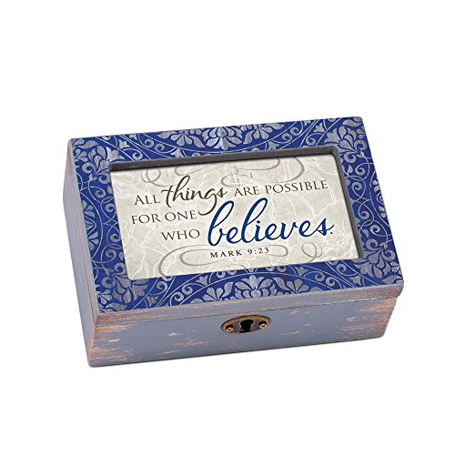 Petit Four Boxes - Cottage Garden Things Are Possible Denim Decoupage Petite Music Box Plays How Great Thou Art