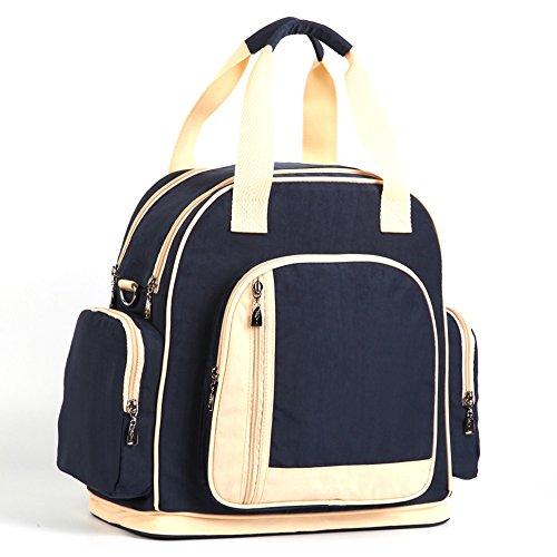 Las mujeres embarazadas salen paquete, bolso de la momia, salen el bolso, bolso de la madre, bolso multi-funcional del bebé del hombro, bolso femenino de la gran capacidad ( Color : Azul oscuro ) Pure dark blue