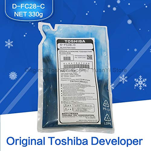Printer Parts FC28 Developer Original Toshiba Copier Parts Developer D-FC28-C Cyan for Toshiba Copier Model FC-2330C 2830C 2820C 2530C 3530C by Yoton (Image #1)