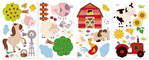 Farm Friends Baby/Nursery Peel & Stick Wall Art Sticker Decal by CherryCreek Decals (Image #2)