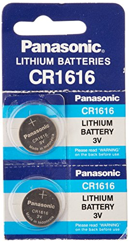 Panasonic CR1616 3V Coin Cell Lithium Battery, Retail Pack of 2