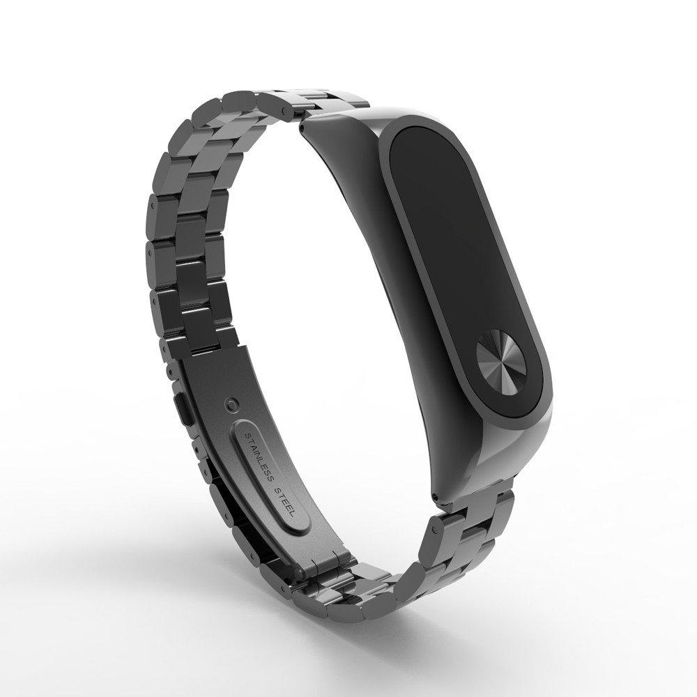ultrafina Plateado lujosa de acero inoxidable de metal Correa TianranRT para Xiaomi Mi Band 2