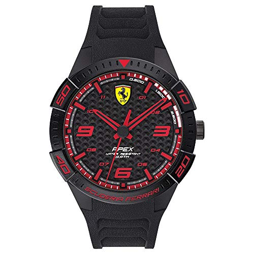 Scuderia Ferrari Analog Black Dial Men #39;s Watch 0830662