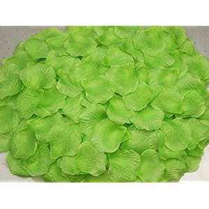 Rebecca online Light Green Silk Rose Petals Artificial Flower Wedding Party Vase Decor Bridal Shower Favor Centerpieces Confetti (Light Green-14) 77