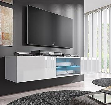 muebles bonitos mueble tv modelo tibi 160 cm en color blanco