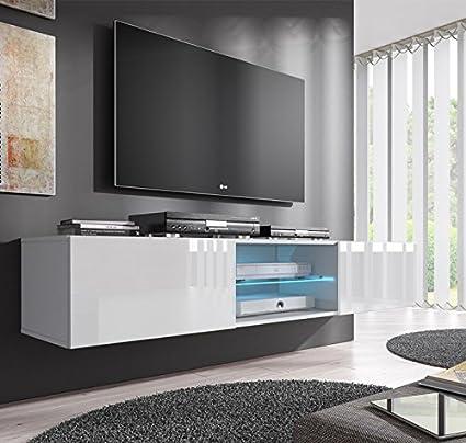 muebles bonitos Lettiemobili -Mobile TV sospeso design Tibi bianco ...