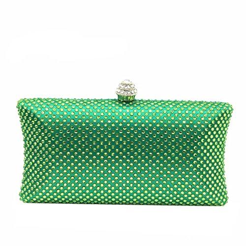 Bolso De Diamante Del Bolso Del Bolso De Noche Del Banquete De La Mujer Green
