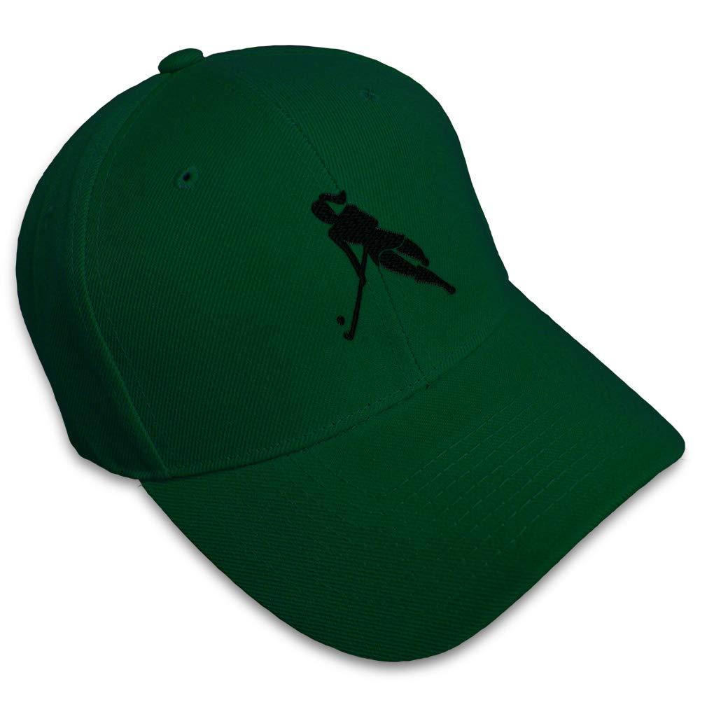 Custom Baseball Cap Woman Hockey Player C Embroidery Dad Hats for Men /& Women