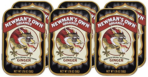 Newman's Own Organics Mints, Ginger, 1.76-Ounce Tins (Pack of 6) by Newman's Own (Image #1)