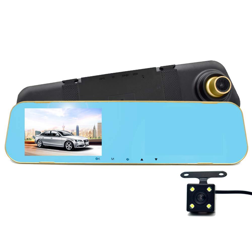 omufipw singolo//doppio obiettivo auto guida registratore video Full HD 170//° Wide View sight camera retrovisore Dash Cam