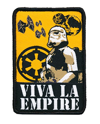 Small Woven Patch (Patch Squad Men's Star Wars Stormtrooper Viva La Empire Woven Patch)