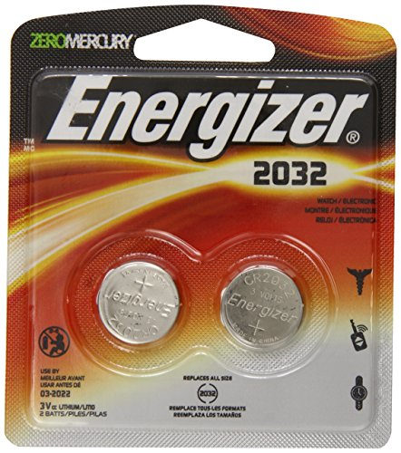 Energizer WatchElectronic Batteries 3 Volts 2032 2 batteries (Lithium Button Cell)