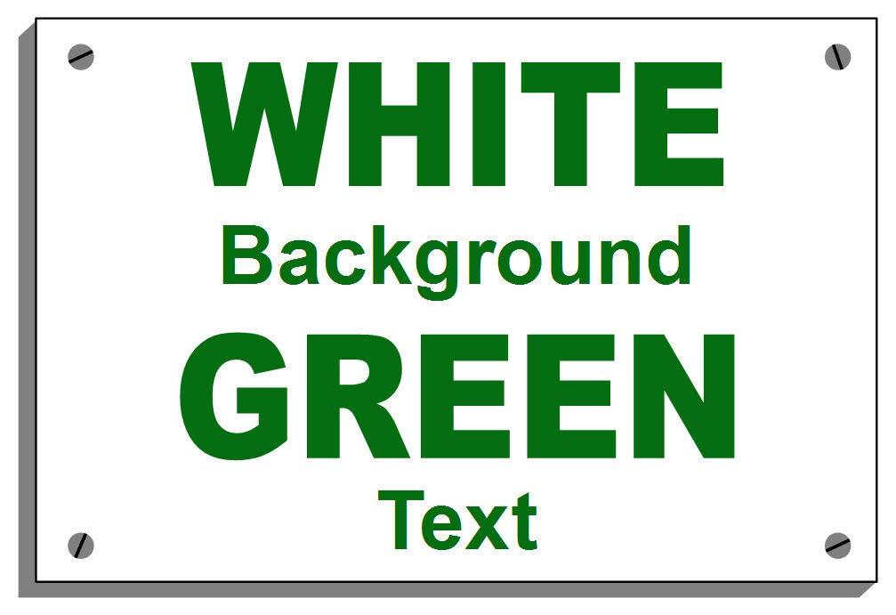 Riciclare rifiuti di giardino resistente alle intemperie Sign 5015 in alluminio, PVC o sticker 15cm x 20cm approx 6  x 8  Foamalux 3mm verde on bianca