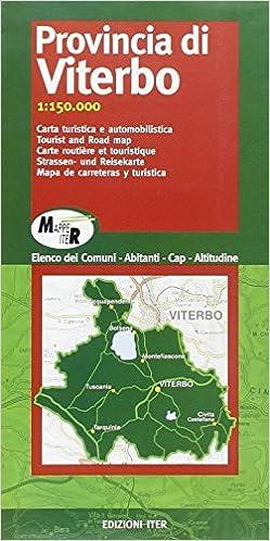 Cartina Geografica Di Viterbo E Provincia.Amazon It Provincia Di Viterbo Carta Turistica E Automobilistica 1 150 000 Aa Vv Libri