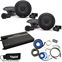Alpine Two Pairs Of R-S65C 6.5 Component Speakers, a MB Quart ZA2-1600.4 4-Channel Amp & Wire Kit