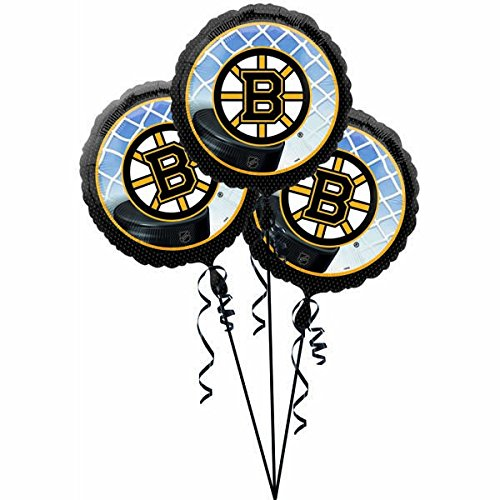 amscan Party Decoration Exciting Boston Bruins Balloons (3 Pack), 18