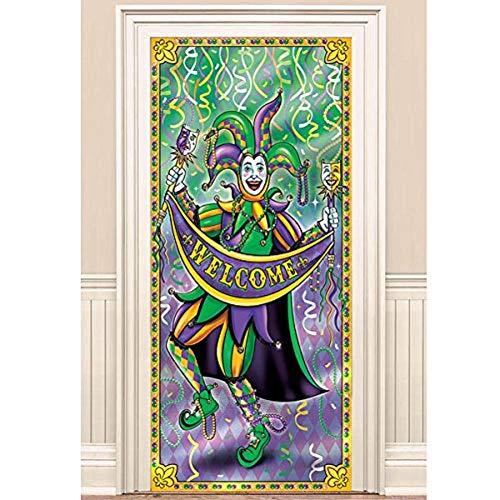 Mardi Gras Door Cover