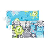 Bumkins Disney Baby Reusable Snack Bag Small 2 Pack, Monsters Inc. (Gray/Blue)