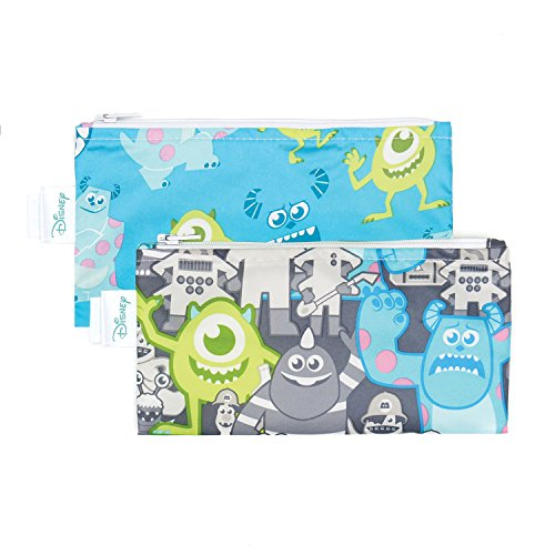Monster Inc Girl (Bumkins Disney Baby Reusable Snack Bag Small 2 Pack, Monsters Inc. (Gray/Blue))