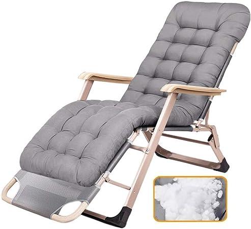 XUE Sillones reclinables Resistentes con Cojines para Patio, Piscina, jardín - Silla portátil Plegable para Exteriores o Interiores, Soporte de 200 kg,A: Amazon.es: Hogar