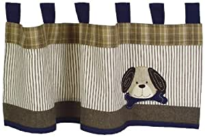 Sumersault Show Doggies Valance, Brown (Discontinued by Manufacturer)