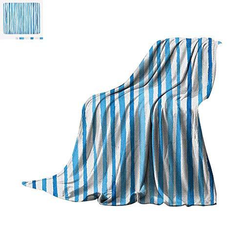 Stripes Comforter Cottage - Harbour Stripe Warm Microfiber All Season Blanket Watercolor Stripes Paintbrush Color Bands Nautical Cottage Design Summer Quilt Comforter 50