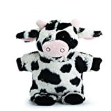 Nat and Jules Cormac Cow Puppet Spotted Black And White Children's Plush Stuffed Animal