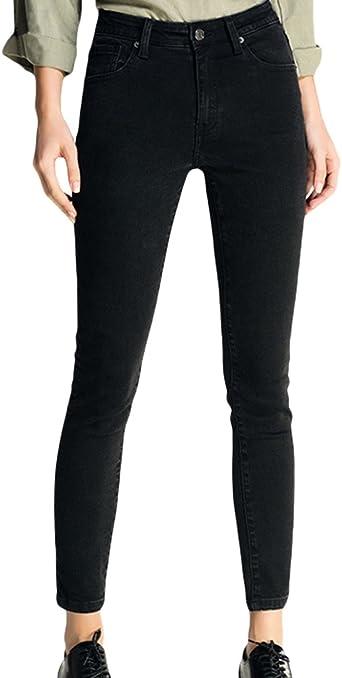 Zhiyuanan Skinny Vaqueros Para Mujer Color Solido Carrot Jeans Tiro Alto Casual Slim Fit Denim Lapiz Pantalones Tejanos Negro Xl Amazon Es Ropa Y Accesorios