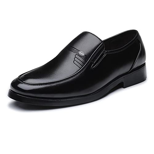 Zapatos de Hombre clásicos Mocasines de Cuero PU Slip-on Soft Sole Business Oxfords Forrados
