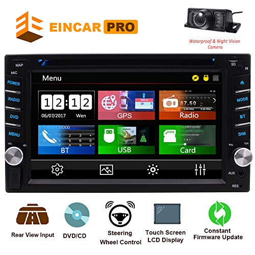 2 Din Car Stereo with Touch Screen Bluetooth Car Radio in Dash Car CD Player AM/FM Radio Receiver Support Free GPS Navigation Card &Mirror Link&Backup Camera&Steering Wheel Control&Remote Control