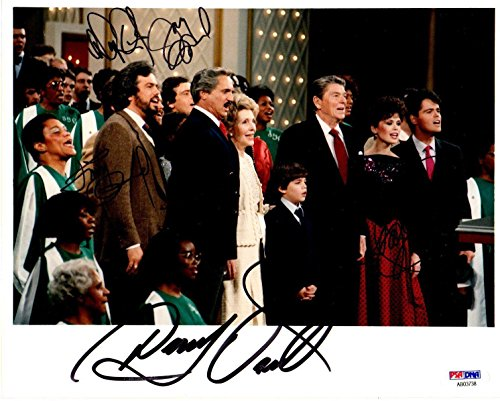 DONNY-MARIE-JAY-JIMMY OSMOND AUTOGRAPHED-SIGNED 8x10 FAMILY PHOTO B03738 - PSA/DNA Certified - Autographed MLB Photos