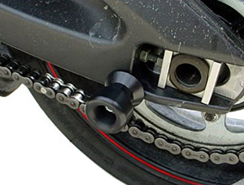 black CNC Aluminum Carbon Fiber Swing Arm Spool Sliders Protector Fit For Yamaha FZ1 FAZER 2006-2012