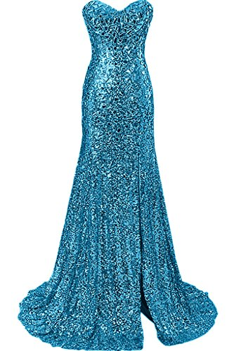 Blau Damen Ivydressing Luxurioes Abendkleid Stil Meerjungfrau Festkleid Herz Ausschnitt Promkleid rrqzdxU