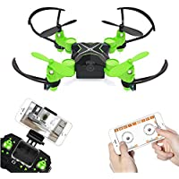 Metakoo Mini Drone WiFi FPV Drone with HD Camera 0.3MP Headless Mode 3D Flip One-key Taking-off & Landing 6-Axis Gyro 2.4GHz RC Quadcotper - Green