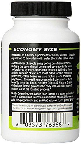 Healthy Origins - Green Coffee Bean Extract 400 mg 120 cap Vegi