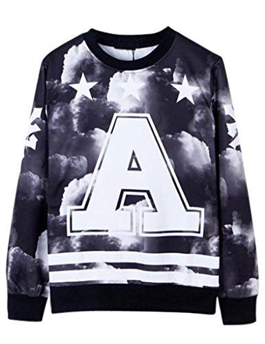 Match Hip Hop Rock Punk Harajuku Style Tee 3D Printing Sweater(X-Small (Label Meduim),LT-111)