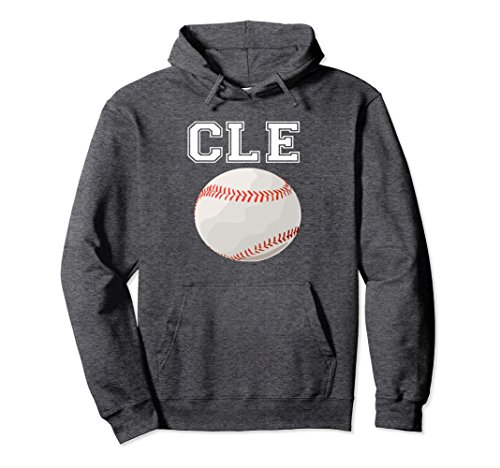 Unisex Cleveland Ohio Baseball Heart CLE Shirt hoodie Large Dark Heather -