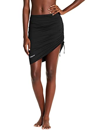 6b0afb428b5db Amazon.com: Cityoung Womens Swim Skirt Waistband Mid Length Skirted Bikini  Bottom Cover-up Beachwear: Clothing