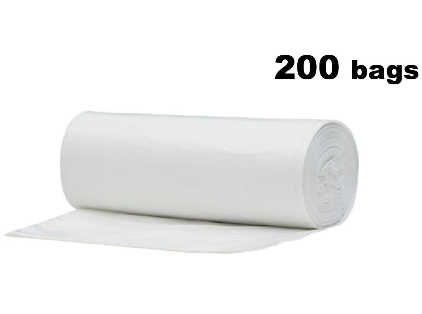 2.6 Gallon Clear Small Garbage Trash Bags 200 Count