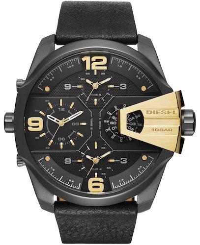 Diesel Reloj analogico para Hombre de Cuarzo con Correa en Piel DZ7377: Amazon.es: Relojes