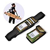 Nice Pies Universal Skateboard Shoulder Carrier Skateboard Shoulder Strap Skateboard Carry Strap with Portable Multi-Function Bag - Fit All Boards! (Camouflage)