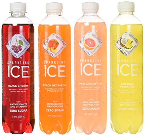 Sparkling Ice Variety Pack, 17 Fl Oz, 12Count (Black Cherry, Peach Nectarine, Coconut Pineapple, Pink Grapefruit)