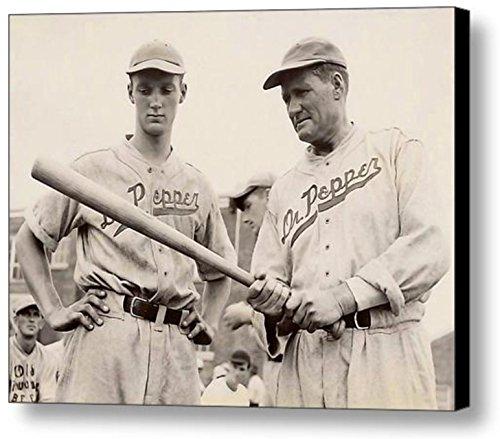 Framed 1938 Walter Johnson Dr. Pepper Team 8.5 X 11 Vintage Baseball Print (Baseball Team Pictures)