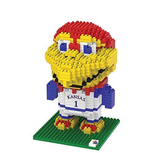 FOCO NCAA Kansas Jayhawks 3D Brxlz Mascot Building Blocks SET3D Brxlz Mascot Building Blocks Set, Team Color, One Size ()