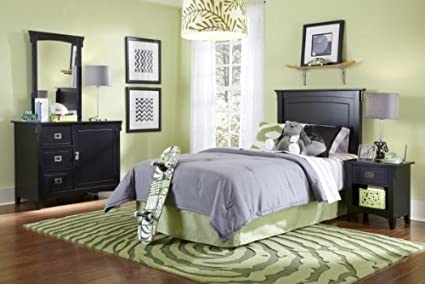 Amazon.com: Powell Furniture Mission Bedroom in a Box, Black ...