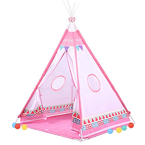 Buringer Teepee Tent For Baby - Indoor Outdoor Play House - Polyester Cloth Indian Teepee Play Tent for Kids Toddlers Girls Boys 4 Feet Playhouse (Peek A-boo Pirate)